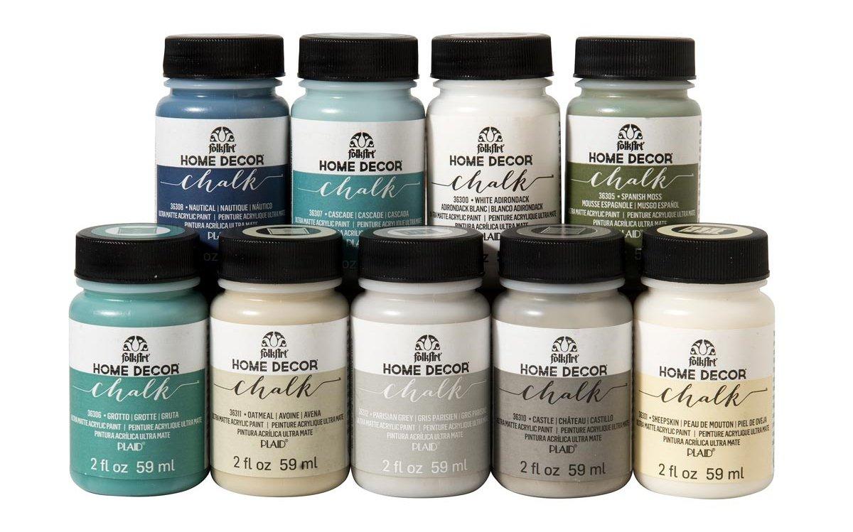 FolkArt Home Décor Chalk Finish Paint Set (2 Ounce), PROMOFAHDC, Top Colors by FolkArt