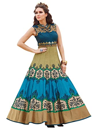 e70d6090821 Shreeji Fashion Gown (Party Ware Ladies Gown): Amazon.in: Clothing ...