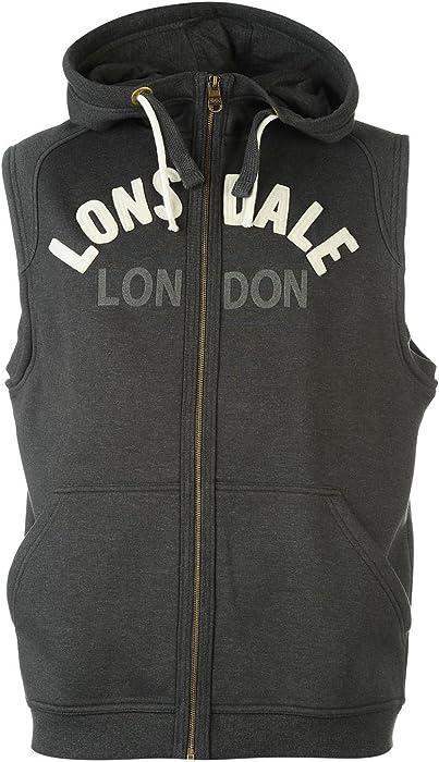 Lonsdale Mens Box Sleeveless Hoody Hoodie Hooded Top