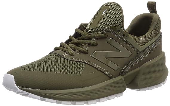 green new balance trainers