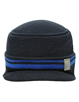 dc1d00cdf17585 Bench Haines Peaked Beanie Hat blue total eclipse Size:M/L: Amazon ...