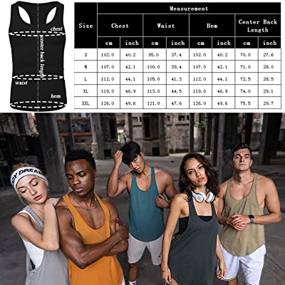 LecGee Mens 3 Pack Gym Tank Tops Sleeveless Workout Muscle Tee Fitness Bodybuilding T Shirts