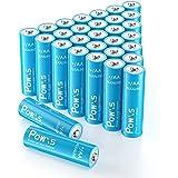 POWXS AA Batteries (30 Count), 10-Year Shelf Life & Leakproof 1.5V Alkaline AA Size Battery