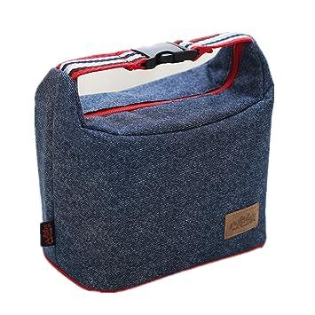 Freessom Sac Isotherme Repas Sac à Déjeuner Simple Lunch Homme Femme Chaud  Box Bag Epais Emporter 292686f09fd9
