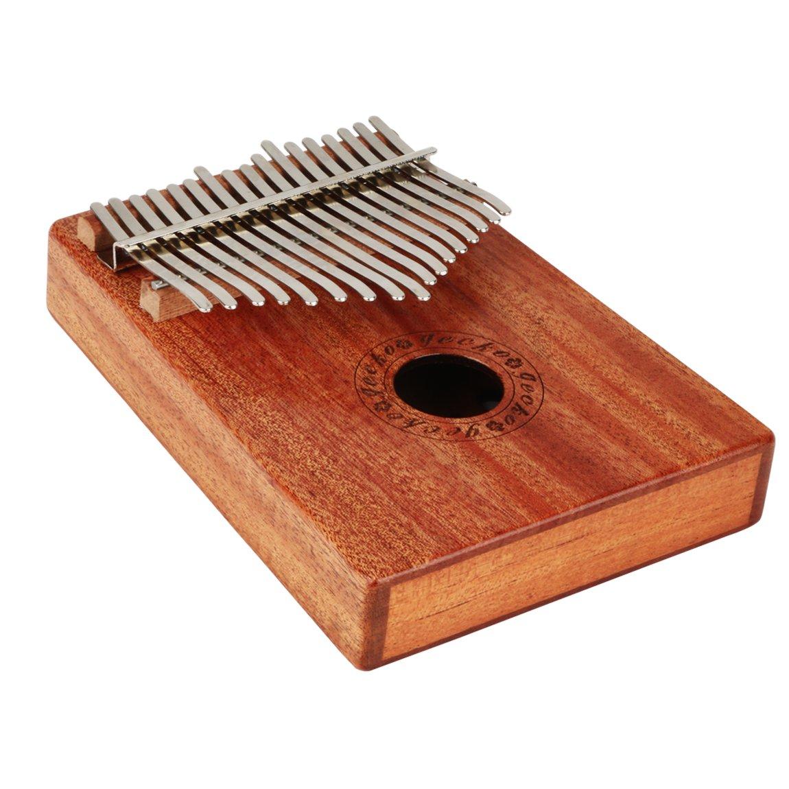 CYC Music Kalimba Thumb Piano 17 Keys Made of Mahogany Solid wood -Natural Color