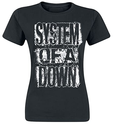 System of a Down Shattered Camiseta Mujer Negro