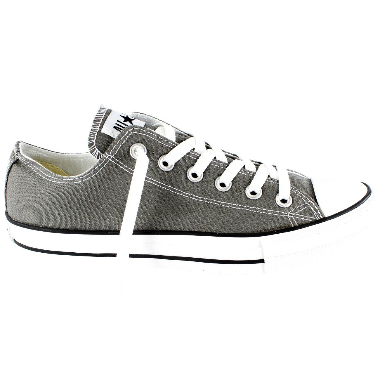 afe4bd35d187 Converse Unisex Chuck Taylor All Star Low Top Sneakers - Charcoal - 11.5 B(M)  US Women   9.5 D(M) US Men