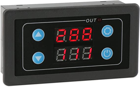 12V Cycle Timer Delay 0-999 hours//minutes//seconds Thermostat Dual Display Relay