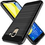 LK Custodia per Samsung Galaxy J6 2018, [Anti-Impronta Digitale] [Slim Fit] [Flessibile] Antiurto Morbida Protettiva TPU Spazzolata