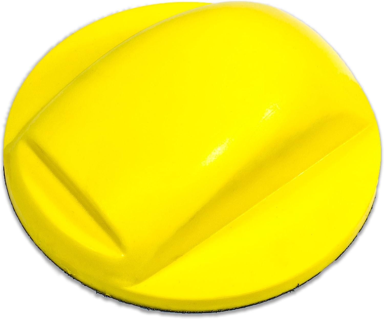 2x 15cm SANDING DISC FLEXIBLE HAND BLOCK FLATTING RUBBING 6/'/' HOOK LOOP GRIP
