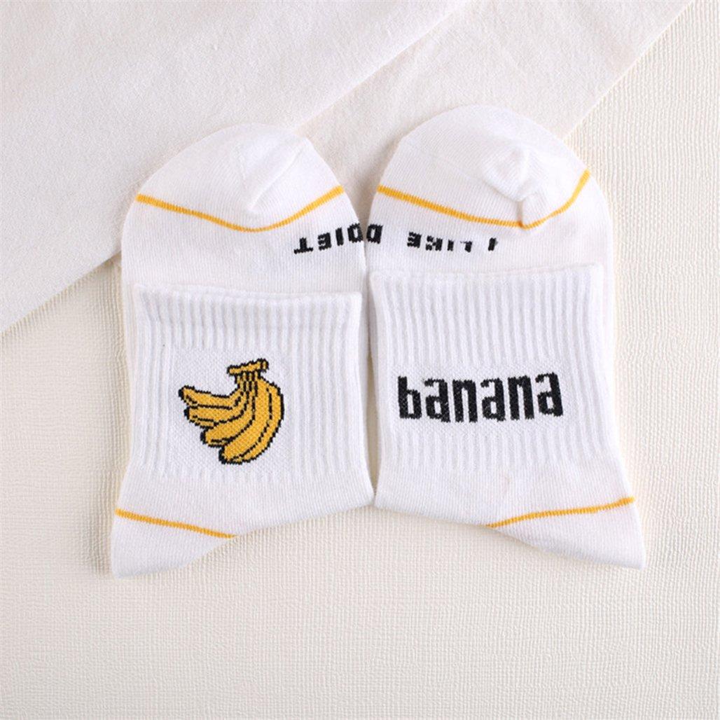 ZHOUBA - Calcetines - para mujer Banana# Talla única: Amazon.es: Ropa y accesorios