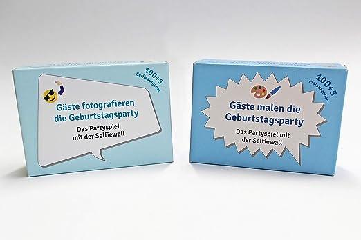 Geburtstagsparty 100 Karten mit Fotoaufgaben Spiel Party Runder Geburtstag