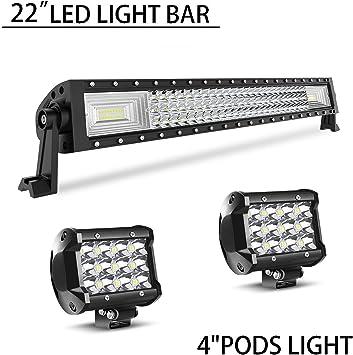 2x 4/'/'Inch Work Cube Side Bumper LED Light Bar Spot Driving Fog Lamp For Yamaha
