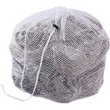 Hengsong Kleider Unterwäsche Socken Mesh Wäschebeutel Wäschesäcke Wäschenetz mit Zugkordel für die Waschmaschine (L, Coarse mesh)
