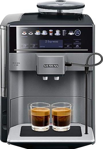 Siemens EQ.6 Plus S100 TE651209RW Automatische Espressomachine, Polycarbonaat, 1,7 Liter, Zwart en Titanium