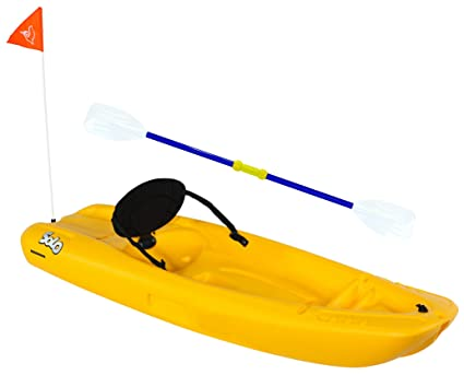 Amazon Com Pelican Solo Sit On Kayak 6 Ft Yellow Sports Outdoors