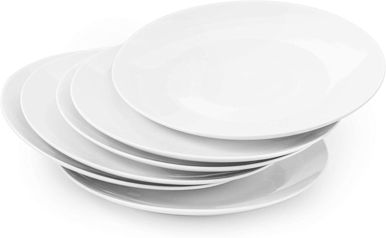 Amuse- Professional Gourmet Coupe Dinner Plate-10.5''- Set of 6