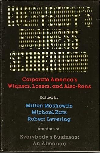 Everybody's Business Scoreboard: Corporate America's