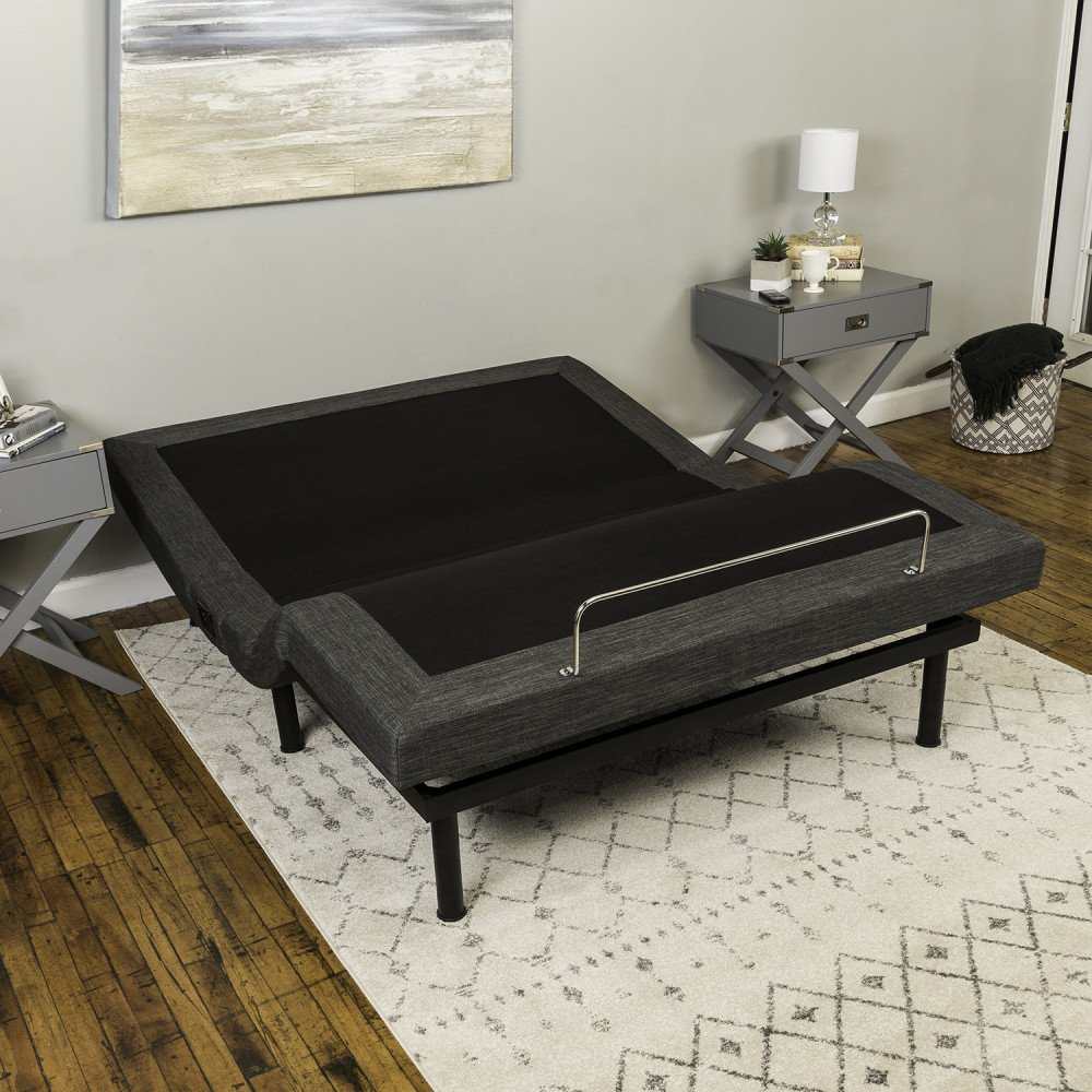 Classic Brands Adjustable Comfort Adjustable Bed Base with Massage, Wireless Remote and USB Ports, King