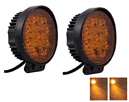 Amazing Ambrotos Yellow High Intensity Fog Cutting Beam CREE LED Aux Fog Lights For  Car Set Good Looking