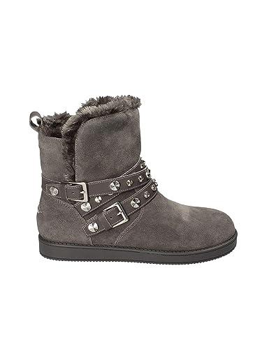 Gris Chaussures Bottines Guess Leesa et Femme Sacs qFIFtwfZ