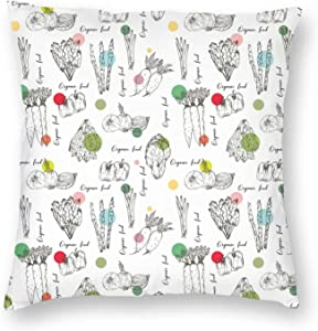 WEADSFCD Farm Vegetables Organic Food Pillow Covers 20