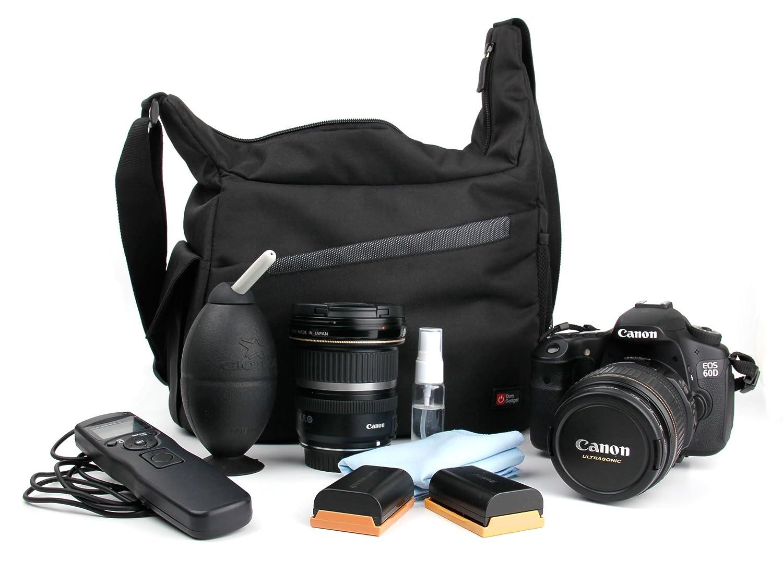 DURAGADGET Mochila con Compartimentos con Bandolera Ajustable para C/ámara Nikon D90 Bandolera Al Agua