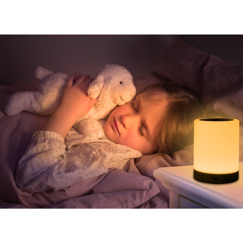Caxmtu Veilleuse Led Lampe Touch Lampe De Table De Chevet Pour