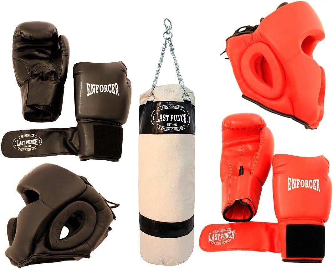 Last Punch Boxing ensamblados New 2 Pares de headgears 2 Pares Pro de Boxeo y Saco de Boxeo: Amazon.es: Deportes y aire libre