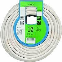 Profiplast PRP512121 Couronne de câble 10 m ho5vvf 2 x 1 mm Blanc