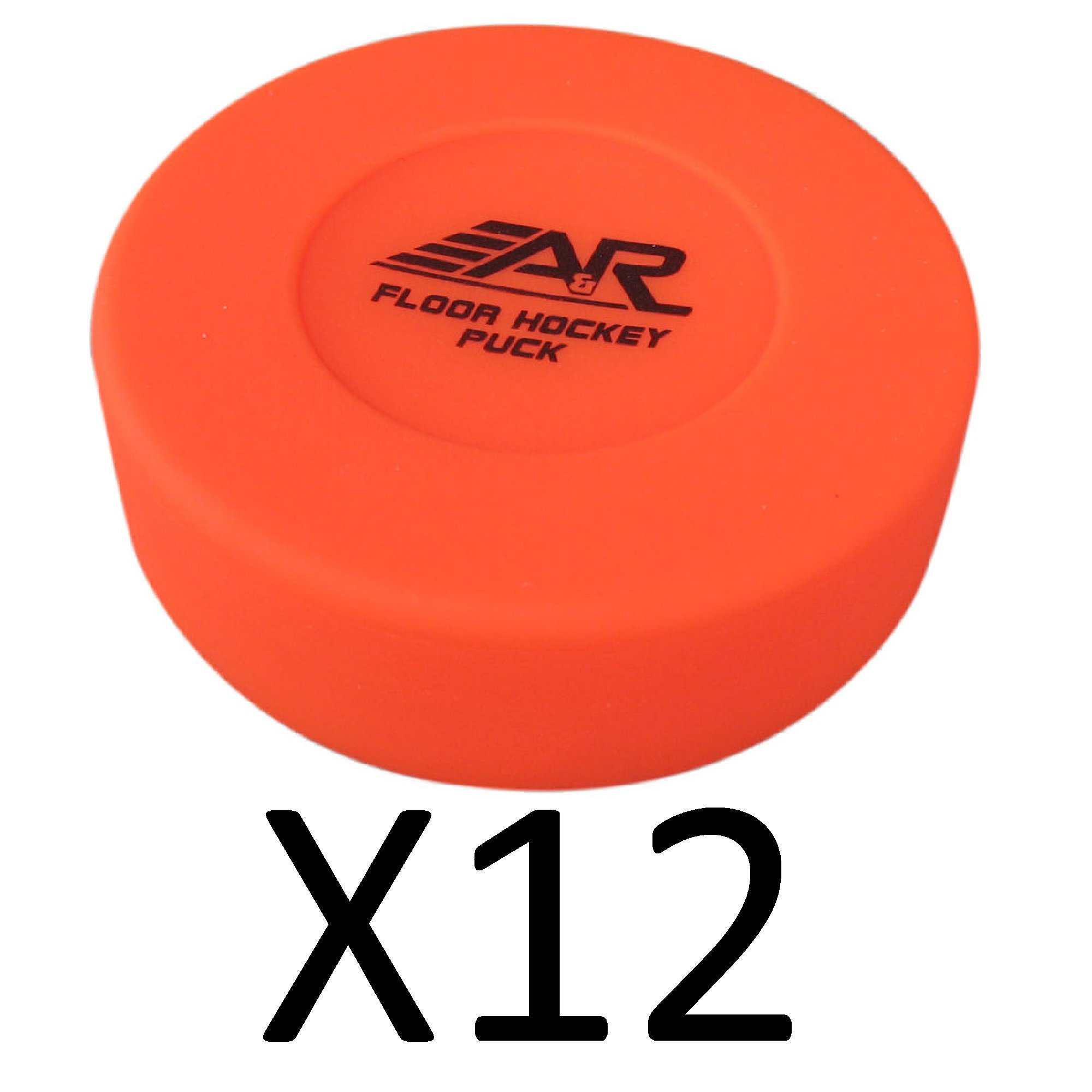A&R Rubber Construction Floor Hockey Puck Durable Quality IFLPUCK (12-Pack)