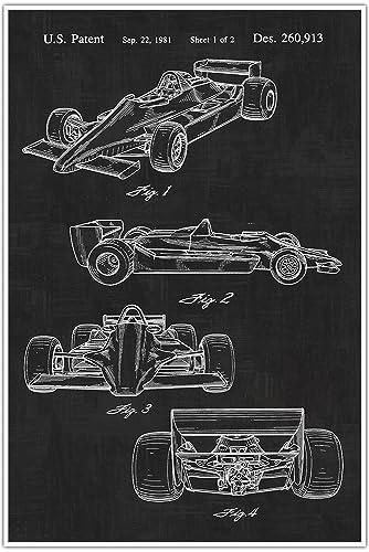 Amazon indy race car sports blueprint patent patent poster indy race car sports blueprint patent patent poster blueprint poster art malvernweather Choice Image