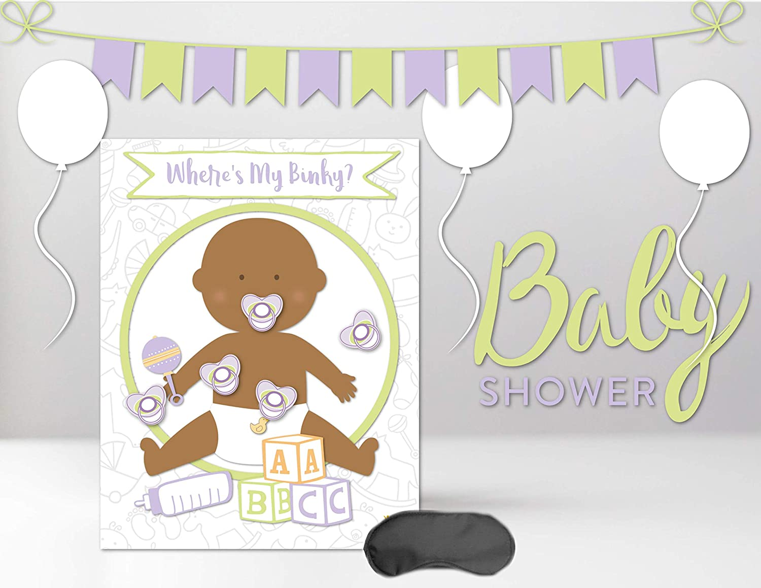 Amazon.com: Pin the Pacifier on the Baby Wheres My Binky ...