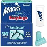 Protetor Auricular Macks Original 10 Pares Com Case Cor:Azul