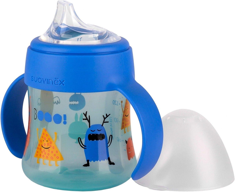 150/ml rose convient aux enfants de 6/mois et + Suavinex/Biberon anti-fuites en silicone