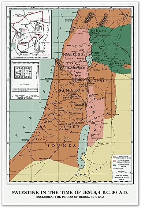Art Quality Print Historic Wall Map Series 38.75 x 27.25 inches ...