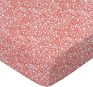 product image for SheetWorld Fitted 100% Cotton Percale Cradle Sheet 18 x 36, Confetti Dots Coral, Made in USA