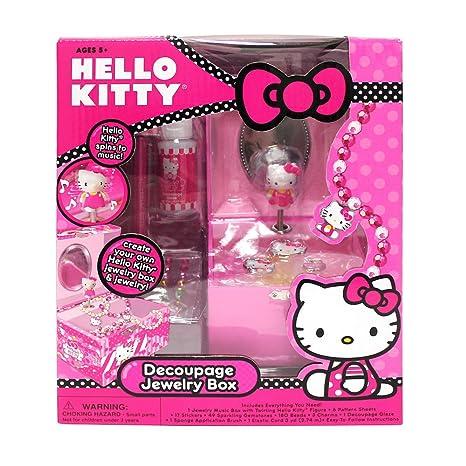 cbbf0cdfa Amazon.com: Hello Kitty Decoupage Jewelry Box: Toys & Games
