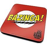 The Big Bang Theory Bazinga Logo Official New Red Coaster (10cm x 10cm)