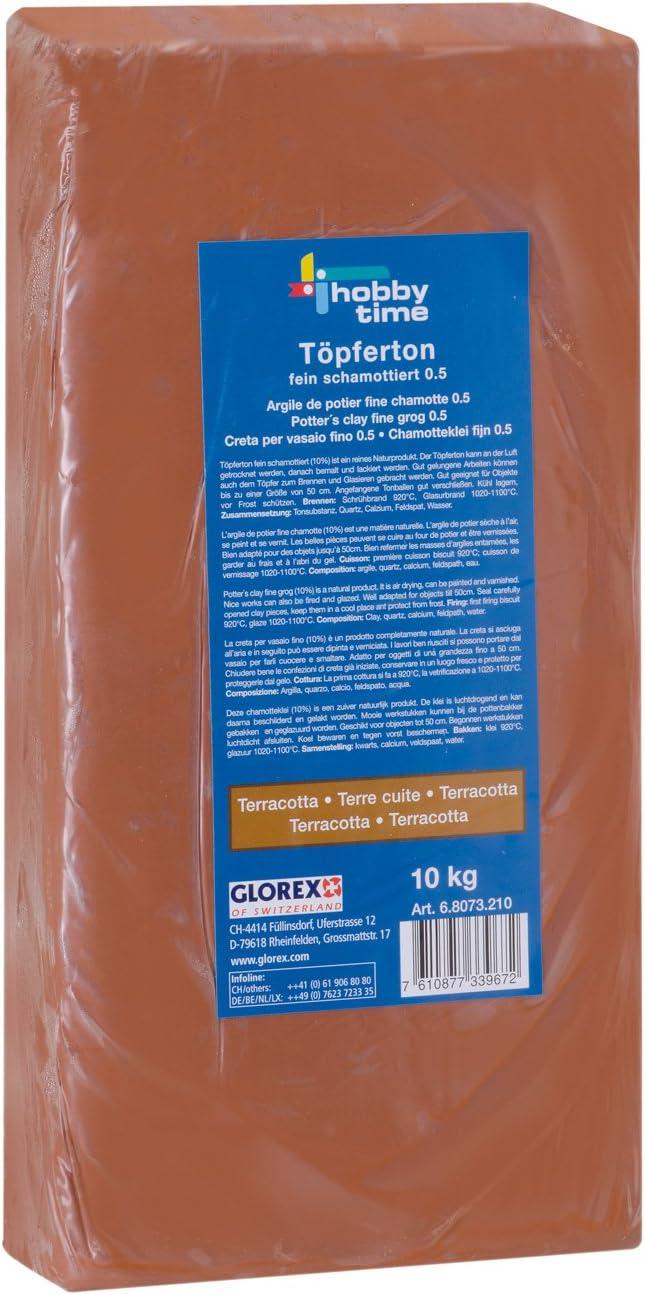 Terracota Glorex 68073210/T/ÖPFER Tono 10/kg 38/x 19/x 6,5/cm