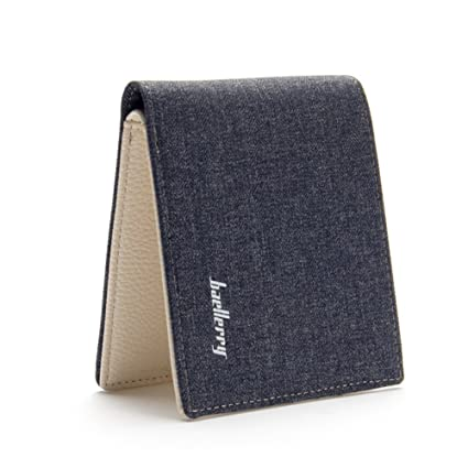Cartera para hombre Estilo plegable Monedero Billetera de Lienzo: Amazon.es: Equipaje