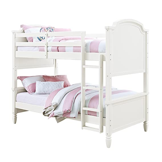 Amazon Com Convertible Twin Over Twin Wooden Bunk Bed With Ladder