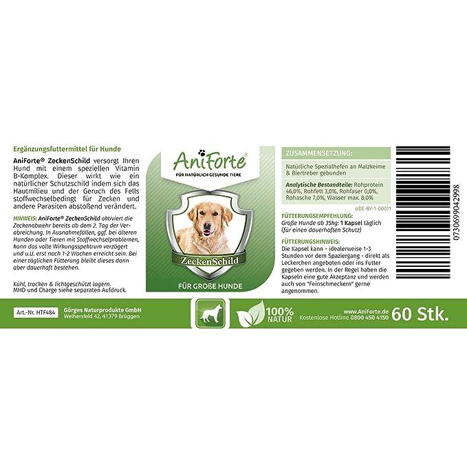 Anti Garrapatas para Perros Grandes (35-50 kg) - 3 x 60 cápsulas (Pack Ahorro) | Producto 100% Natural | Vitamina B Anti Garrapatas: Amazon.es: Productos ...