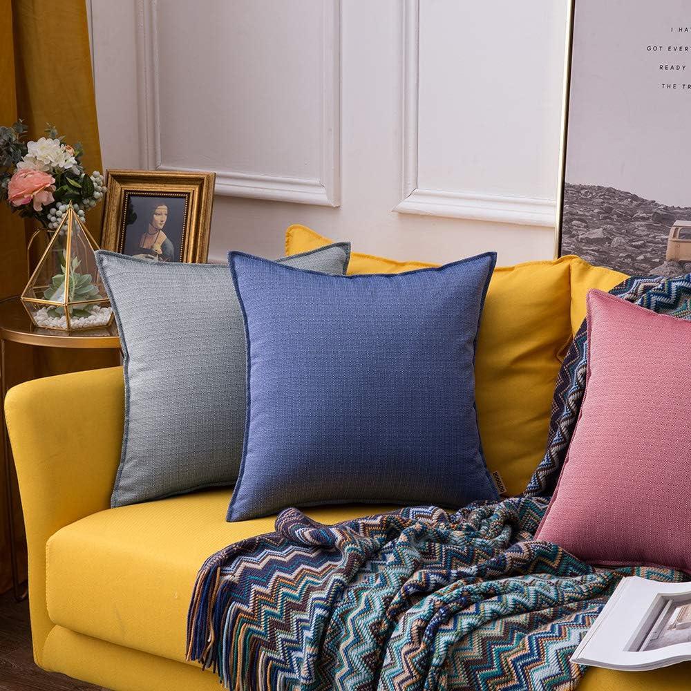 MIULEE Confezione da 2 Federe per Cuscini Moderni Copricuscini Impermeabile Fodere Decorativi per Casa Divano Auto 18X18Inch 45X45cm Eterogeneo Arancione