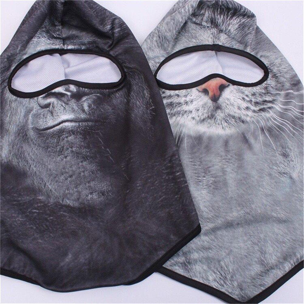 Maschera Antivento Multifunzionale whatUneed Maschera di Protezione per Passamontagna Animale 3D Protezioni Sportive allaperto Traspiranti Allenatore doro
