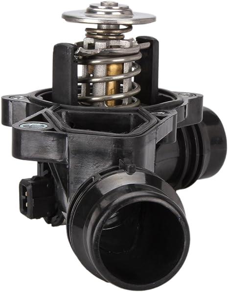 Dromedary 11531437040 Thermostat Mit Sensor Gehäuse Dichtung Temperaturgeber Kühlmittel Thermostatgehäuse 3er E46 Auto