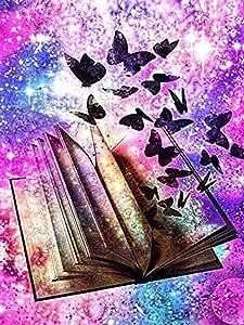 Diamante Dibujo Paisaje Mariposa de colores Libro 5D DIY