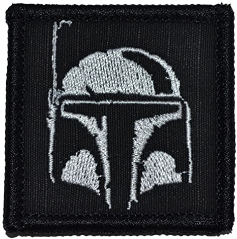 olive drab green boba fett mandalorian star wars embroidered sew iron on patch