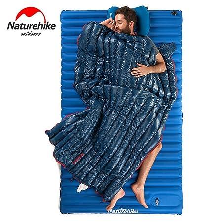 Moliies Impermeable Engrosamiento Ganso Abajo Plaza Saco de Dormir Senderismo al Aire Libre Que acampa Sobre Estilo Ultra Ligero Saco de Dormir Compacto: ...