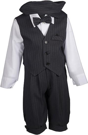 Amazon.com: Boys gris Pinstripe Juego de braga con chaleco ...